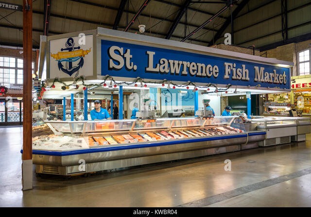 St lawrence market toronto stock photos st lawrence for Lawrence fish market