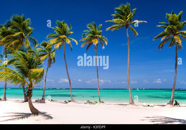 Beach of Punta Cana, the Dominican Republic - Stock Image