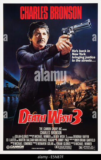DEATH WISH 3, US poster art, Charles Bronson, 1985, © Cannon Films/courtesy Everett Collection - Stock Image