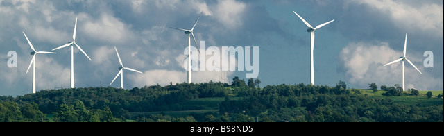 Giant Windmills Madison New York Route 20 Great Western Turnpike - Stock-Bilder