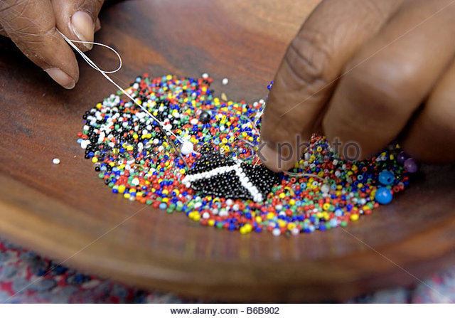 Zulu necklace stock photos zulu necklace stock images for How to make african jewelry crafts