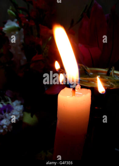 Holy Candle - Stock Image