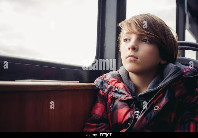 Boy thinking - Stock Image