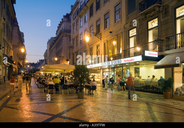 Portugal Lisbon Rua Augusta - Stock Image