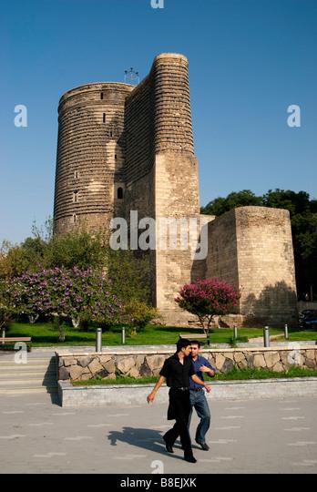 maidens tower baku azerbaijan caucasus travel asia europe - Stock-Bilder