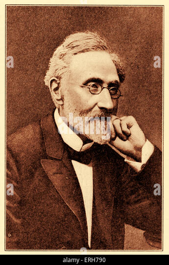 Heinrich  Graetz, author of 'History of the Jews' in 1853. German historian:  31 October   1817 - 7  September - Stock Image