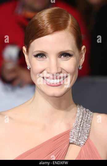 Interstellar UK film premiere held at the Odeon Leicester Square - Arrivals  Featuring: Jessica Chastain Where: - Stock Image