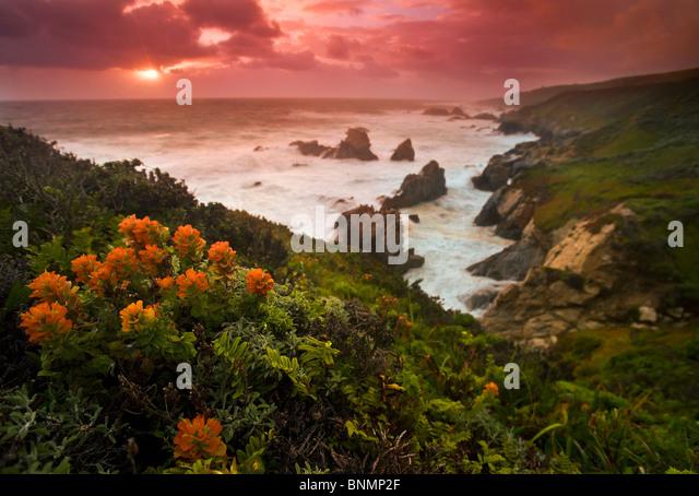 Big Sur coast, California, USA. - Stock Image