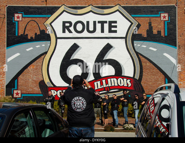 Route 66 mural stock photos route 66 mural stock images for Route 66 mural