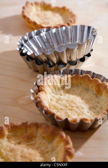 Shortcrust pastry cases - Stock Image