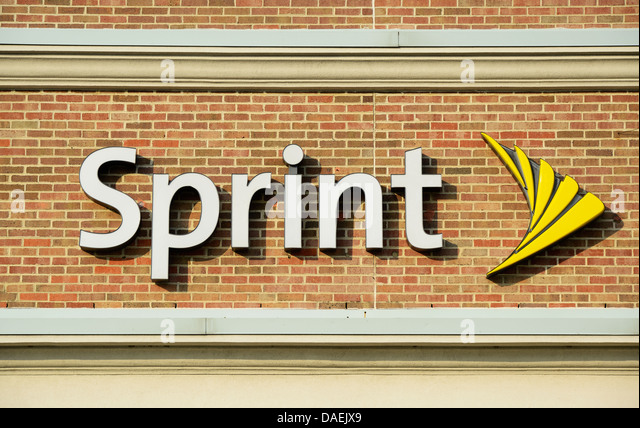 Sprint corporate logo on office. - Stock Image