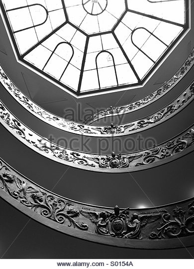 View of a skylight inside the Vatican. - Stock Image