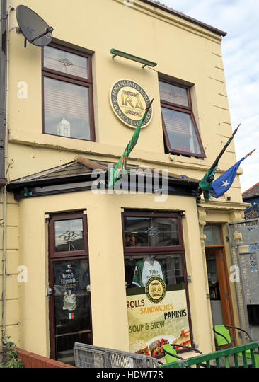 Belfast Falls Rd Republican IRA Cafe, Falls Road Soups & Stew - Stock Image
