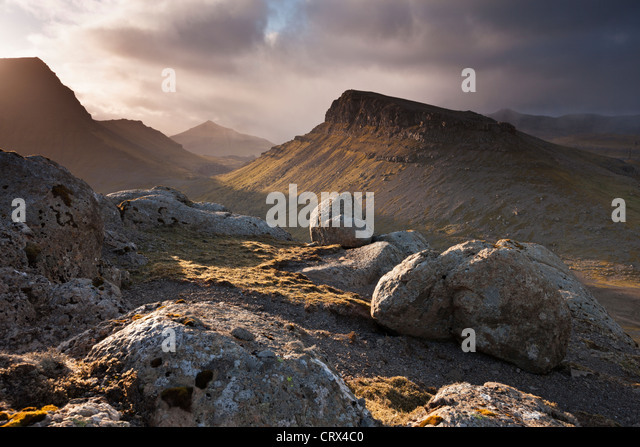 Mountainous interior of the island of Streymoy, one of the Faroe Islands. Spring (June) 2012. - Stock Image