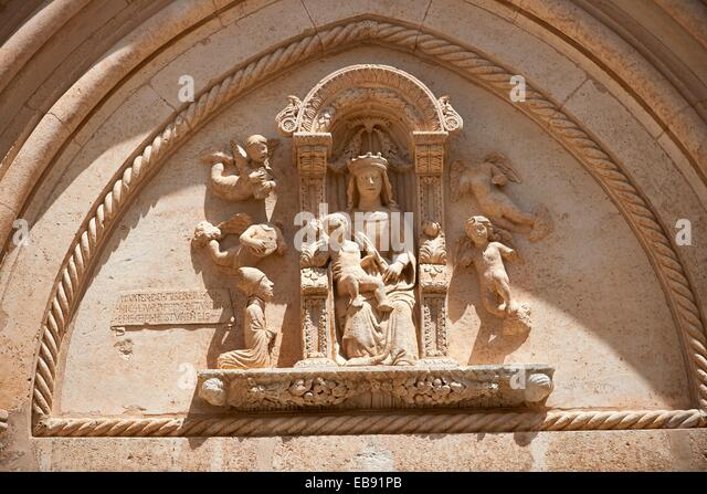 Relief sculptures stock photos
