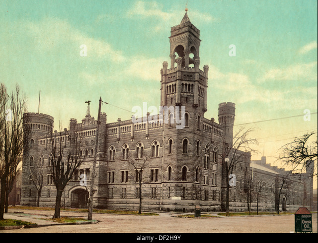 Armory of the Ohio National Guard, Cleveland, circa 1901 - Stock Image