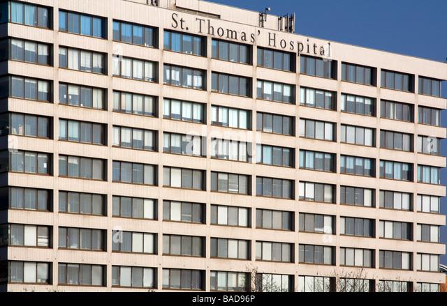 St. Thomas Hospital - London - Stock Image