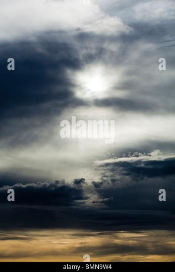 Unusual cloud effect over Exmoor, Somerset - Stock Image