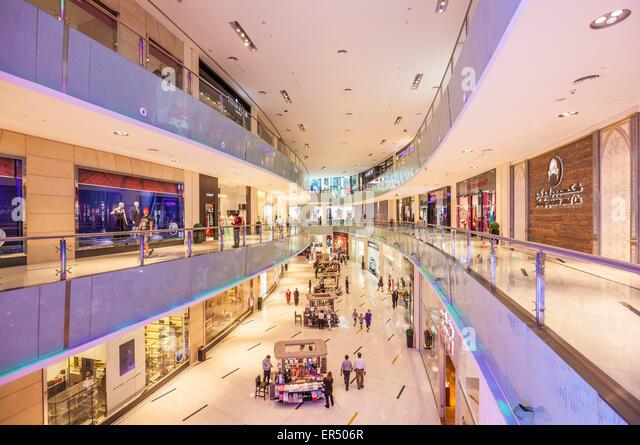 Dubai Mall interior, Dubai City, United Arab Emirates, UAE, Middle East - Stock-Bilder