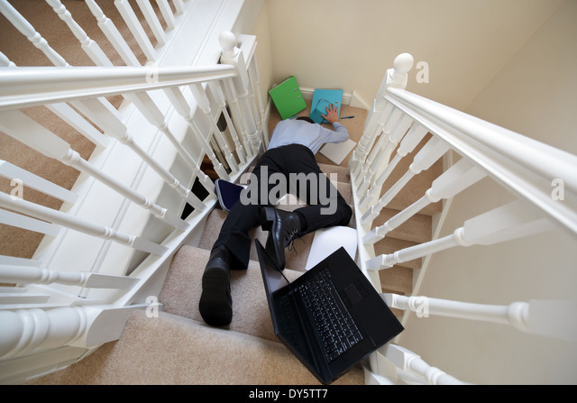 Accident at work - Stock Image