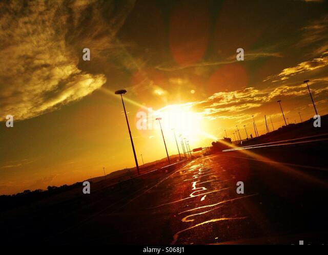 Sunset trip - Stock Image