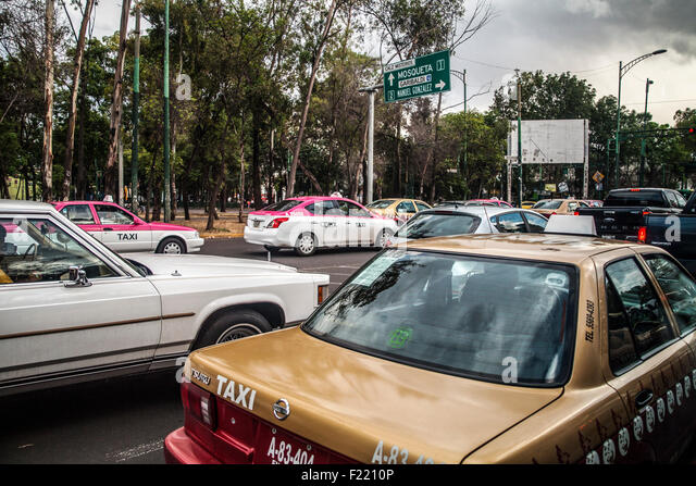 Traffic jam Mexico City Federal District DF North America - Stock Image