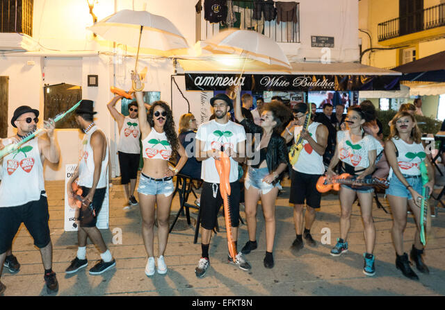 Promotion Group for Ibiza Rocks House, Pacha , Ibiza Town, Spain - Stock Image