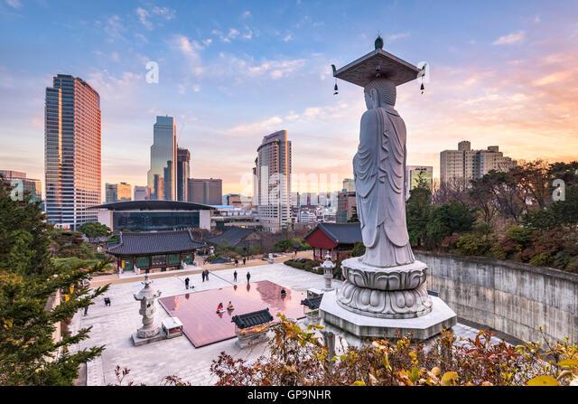 seoul city korea - Stock Image