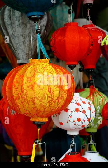 Colorful lanterns, Hoi An, Vietnam - Stock-Bilder