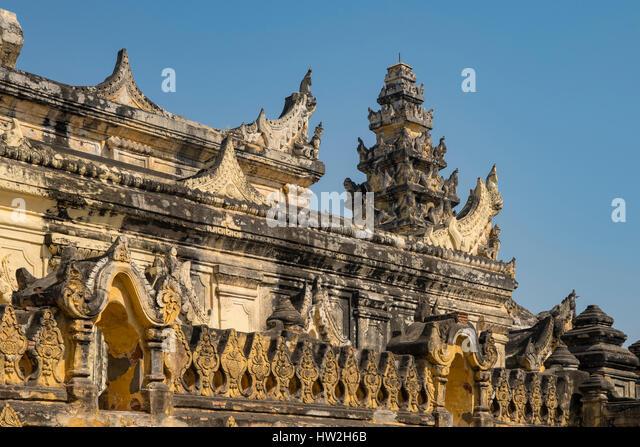 Maha Aung Mye Bon Zan Monastery, Inwa, Myanmar - Stock-Bilder