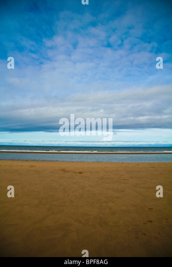 An empty cold beach, abstract - Stock-Bilder