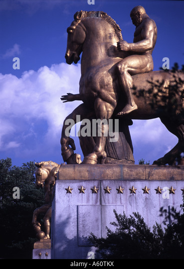 Arts of War Statues, Washington D.C. - Stock Image