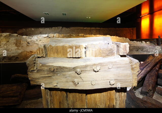 Historical Miasta Museum in the Underground on the Rynek , UNESCO World Heritage Site, Krakow, Lesser Poland, Poland, - Stock-Bilder