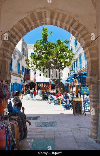 Entrance to the Essaouira's old Medina, formerly Mogador, UNESCO World Heritage Site, Morocco, North Africa, - Stock-Bilder