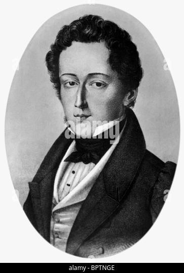 FREDERIC CHOPIN COMPOSER (1850) - Stock-Bilder