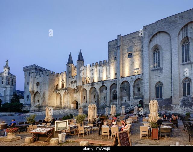 Palais de Papes,  Avignon, Bouche du Rhone, France - Stock Image