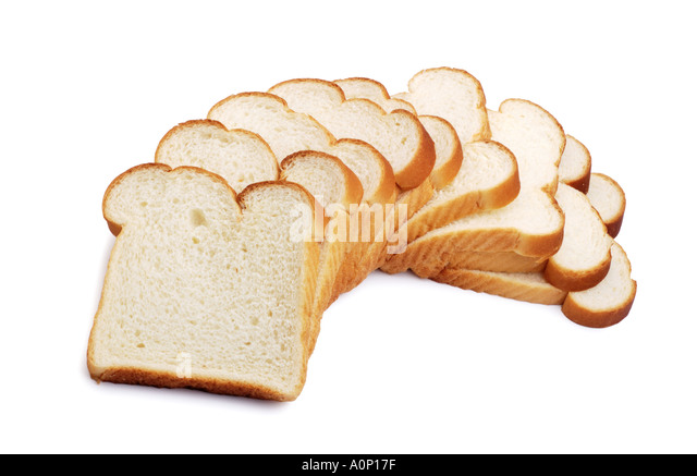 Slices of white bread - Stock Image