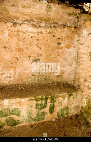 Costa Maya Chacchoben Mayan ruin Temple Pyramid burial chamber - Stock Image