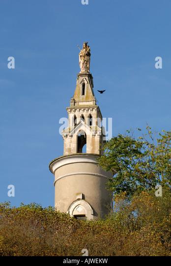 'Rocher de la Vierge' monument, Montmorillon, Vienne, France. - Stock Image