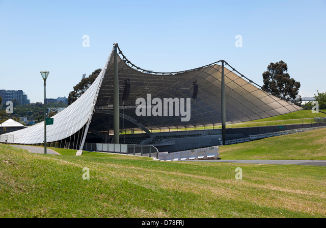 The Sidney Myer Music Bowl, an outdoor entertainment centre in Melbourne, Australia. - Stock Image