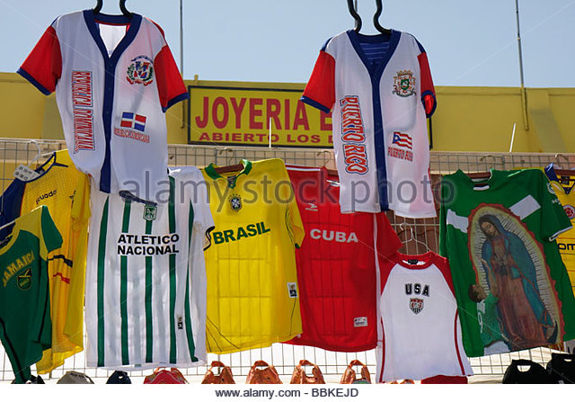 Miami Florida Little Havana Calle Ocho annual event festival street fair Hispanic vendor seller sell merchandise - Stock Image
