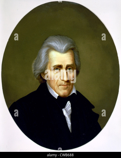 Andrew Jackson, chromolithograph ca. late 19th century - Stock-Bilder