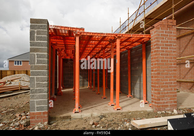 Crash deck on a UK construction site - Stock Image