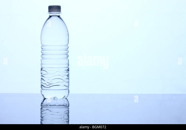 Bottle of water blue tone - Stock Image