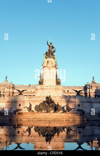 Monumento a los dos Congresos, Palacio del Congreso (National Congress Building), Plaza del Congreso, Buenos Aires, - Stock Image