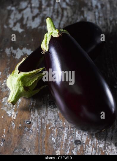 Close up, aubergine - Stock Image