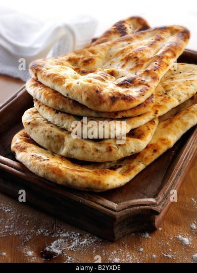Indian Naan Bread - Stock Image