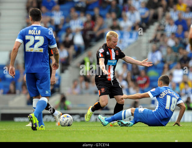 Soccer - Sky Bet Championship - Brighton and Hove Albion v Blackpool - AMEX Stadium - Stock Image