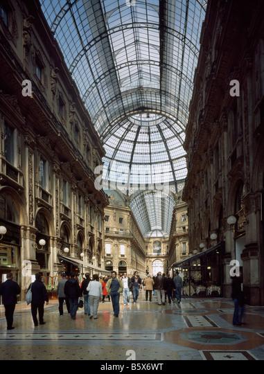 Milan Galleria Vittorio Emanuele Ii - Stock Image