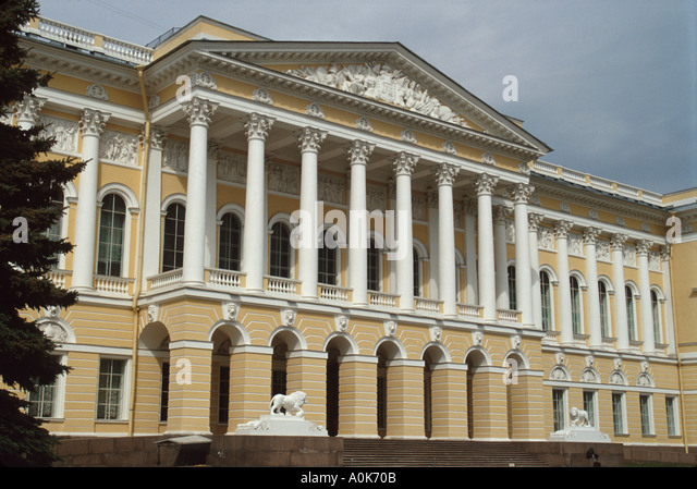 Russia former Soviet Union St. Petersburg Mikhailovsky Palace State Museum of Russian Art - Stock Image